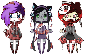 [CLOSED] skull kids adopts by KNicADOPTS
