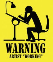 Warning Artist Working by nemesisenforcer