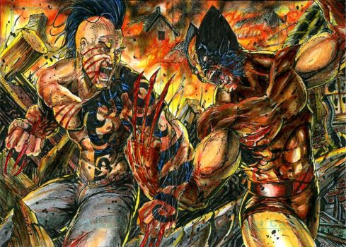 Wolverine vs Daken Commission by DKuang