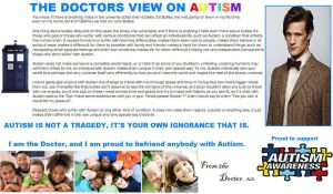 Doctor Who - The Doctors view on Autism by DoctorWhoOne