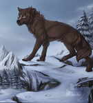 The snowy mountain - Commission by ShadeDreams