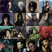 Wasteland 2 Portrait Pack by Seothen
