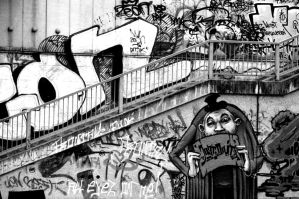 Viennese Graffiti. Monochrome. by johnwaymont
