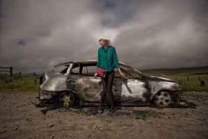 car crash girl by andrewfphoto
