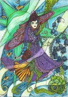 Girl, Collaboration with Seahorse66 by MadGardens