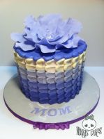 Purple Ombre Mother's Day Petal Cake by Corpse-Queen