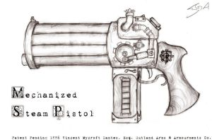 Mechanized Steam Pistol by VynetteDantes