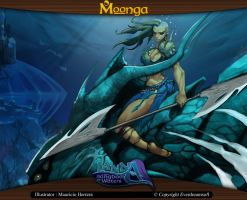Moonga - Water Elf Rider by moonga