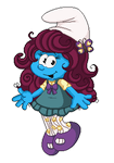 Violetta Smurfling Pixel by Kiss-the-Iconist