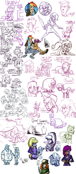 Livestream sketch dump #8 by TheArtrix