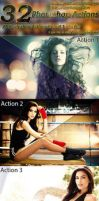 32 Photoshop Actions by hmtopu