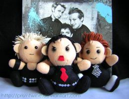 Green day plushies by prismtwine