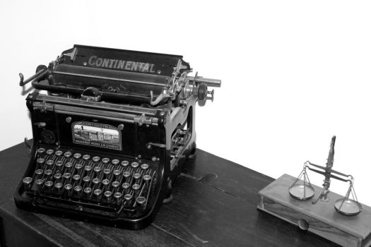 Old Continental typewriter by stylecore