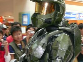 MASTER CHIEF CLOSE UP VIEW by victortky