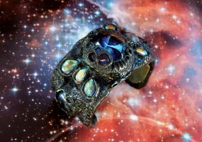 Worm Hole Portal Alien Ship Control Cuff by dogzillalives