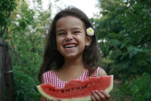 Wattermelon Little Girl Portrait 7 by little-girl-stock