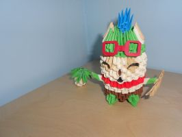3D-origami League of Legends: Teemo by xFenne
