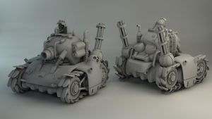 Metal Slug Tank Re-render by Char0w