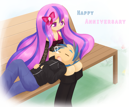 Commission happy anniversary by HowXu
