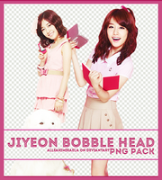 Jiyeon Bobble Head PNG Pack by AlleakiMikaela