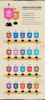 Social Media Flags / Icons by datcouch