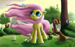 Windy Mane Fluttershy by DeathPwny