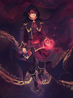 Commission: Dark Mage by Marraphy