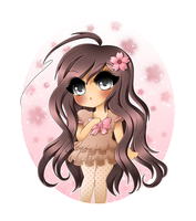 . + * Girl of Cherry Blossoms * + . by Noirepaws