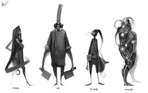 Character Designs II by nerdiesid