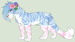 Pink/Blue Pastel Tiger by Kainaa