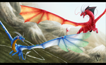 Commission: Flying Twins. by PandiiVan