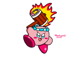 Kirby Collab- Hammer Kirby by MarioSimpson1