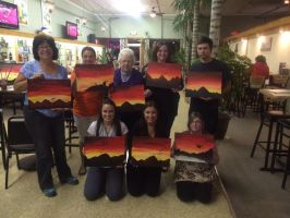 Tri-State Artisans Acryllic class group photo by CrypticGrin