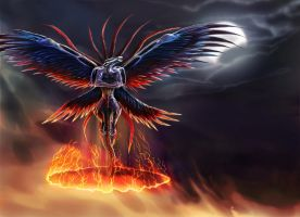 The Summoning of Bahamut by OrmIrian