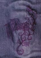 Purple pen and black jeans by FuneralDyingheart
