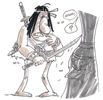 DSC 2014-07-23 Groo the Wanderer by theEyZmaster