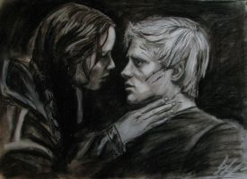 Peete and Katniss from The Hunger Games by kssu24