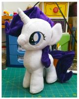 Filly Rarity Plushie by AppleDew