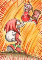 Amy Rose Vs  Knuckles The Echidna by Snicketbar
