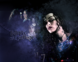 Bellatrix Lestrange wall by RavenTheSilence