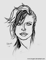 Face sketch by iEvgeni