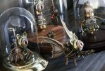 The collection is growing ... Steampunk Sculptures by CatherinetteRings