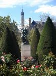 Roses, the Thinker and the Eiffel Tower by Sinkevic
