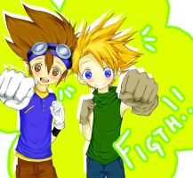 Digimon:. Tai and Matt by nagic-nilo