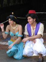 Aladdin and Jasmine by DisneyLizzi