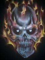 Skull 1 flames by thecrow1299