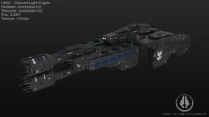 UNSC Stalwart Light Frigate by Annihilater102