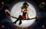 Pumpkin Witch by OSuKaRuArT