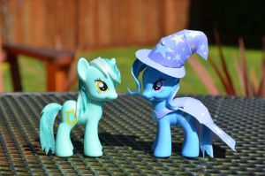 Styled Lyra Heartstrings and Trixie by Phoenix001