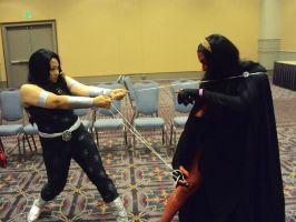 Donna Troy vs Demonic Raven by 00cookie00
